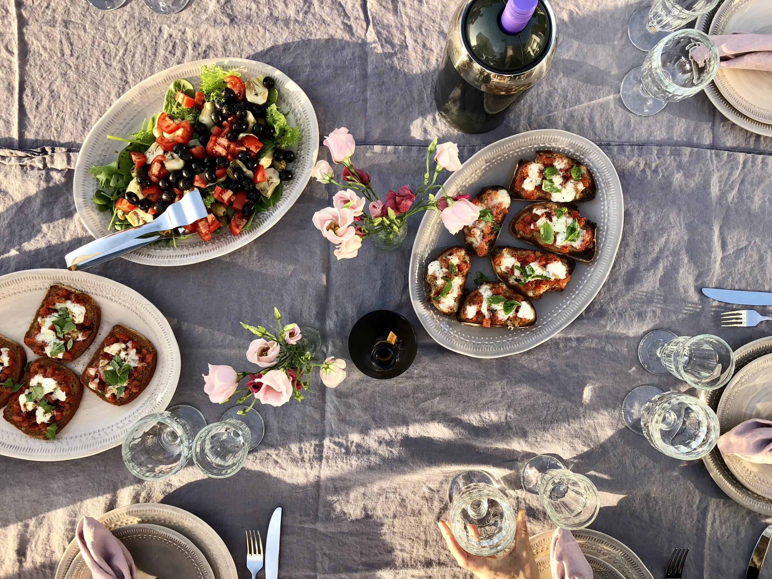 summer nights & bruschetta recipe